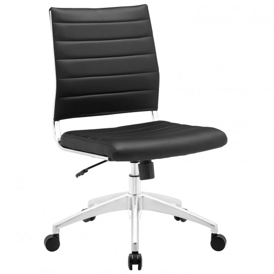 Jive Armless Mid Back Office Chair, Black photo