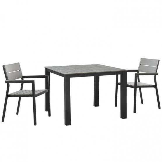Maine 3-Pc Outdoor Patio Dining Set, Composition 1 photo