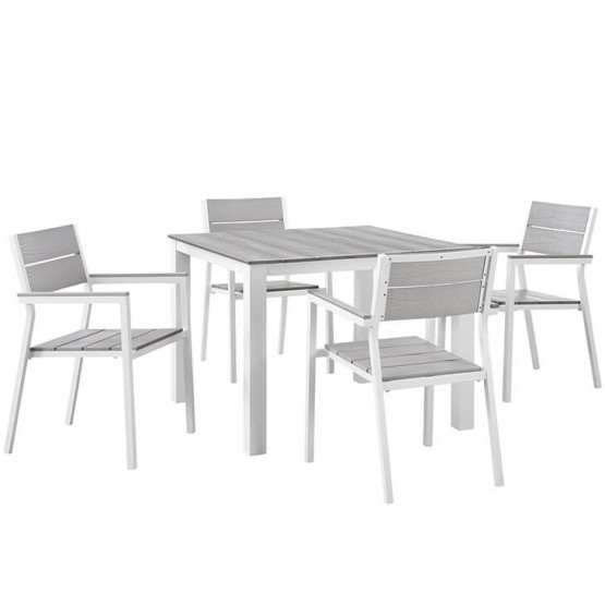 Maine 5 Piece Outdoor Patio Dining Set photo