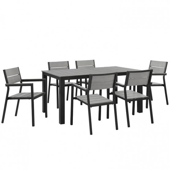Maine 7 Piece Outdoor Patio Dining Set photo