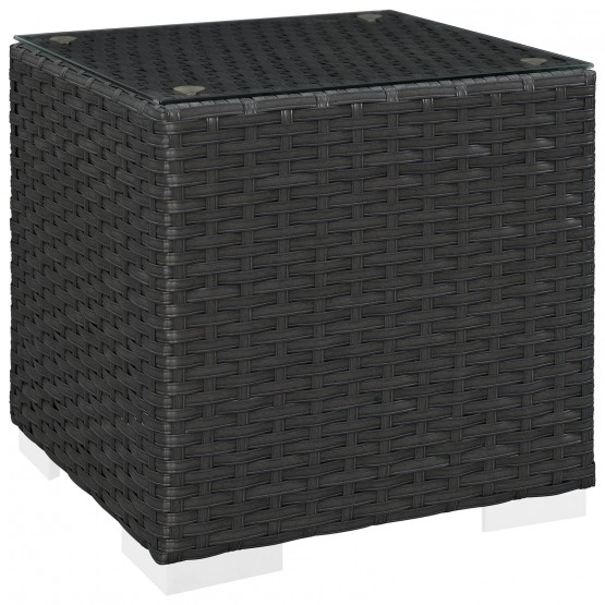 Sojourn Synthetic Rattan Weave Outdoor Patio Side Table photo