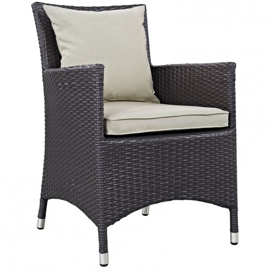 Convene Dining Outdoor Patio Synthetic Rattan Weave/Fabric Armchair photo
