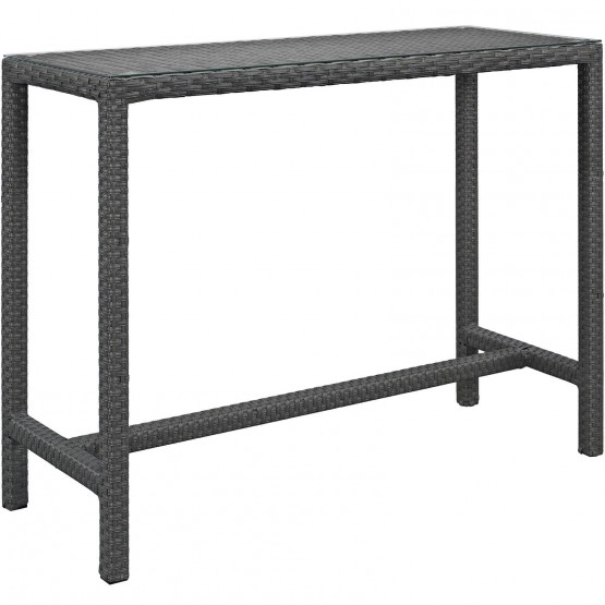 Sojourn Large Synthetic Rattan Outdoor Patio Bar Table photo