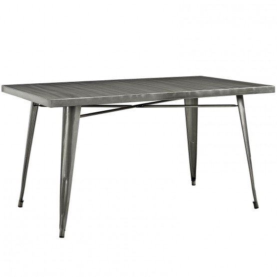 Alacrity Rectangle Metal Dining Table photo