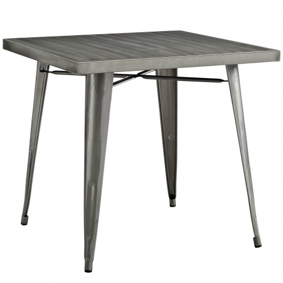 Alacrity Square Metal Dining Table photo