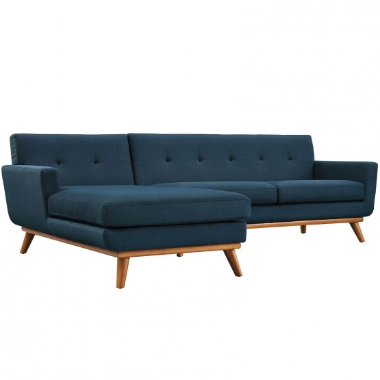 Engage Tufted Fabric Left-Facing Sectional Sofa photo