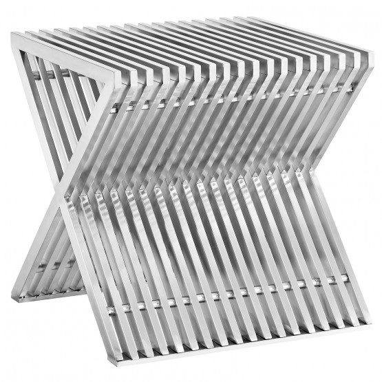 Press Stainless Steel Side Table photo