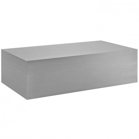 Cast Stainless Steel Coffee Table photo