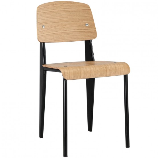 Cabin Dining Side Chair, Natural + Black photo