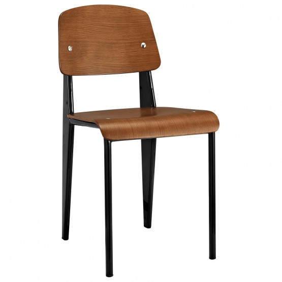 Cabin Dining Side Chair, Walnut + Black photo