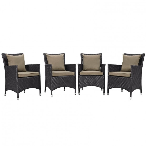 Convene 4 Piece Synthetic Rattan Weave Outdoor Patio Dining Set photo