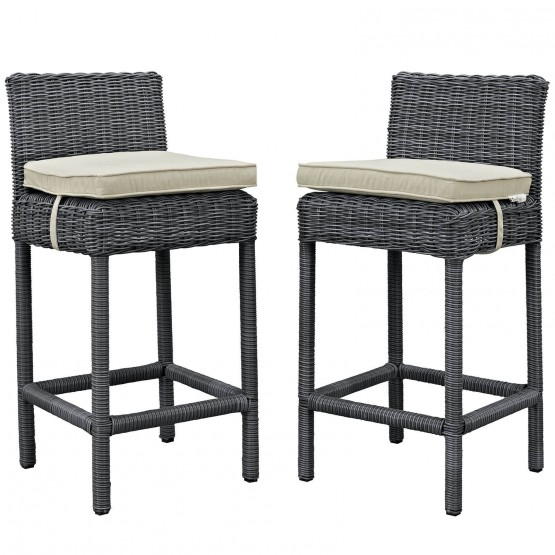 Summon 2 Piece Outdoor Patio Sunbrella Pub Set photo