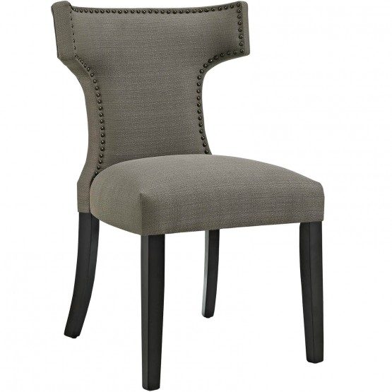 Curve Fabric Dining Chair photo