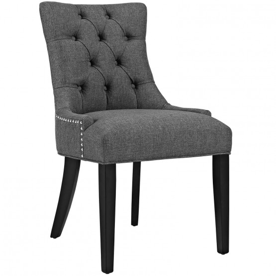 Regent Tufted Fabric Dining Chair photo