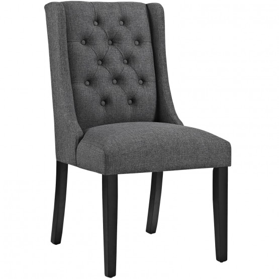 Baronet Tufted Fabric Dining Chair photo