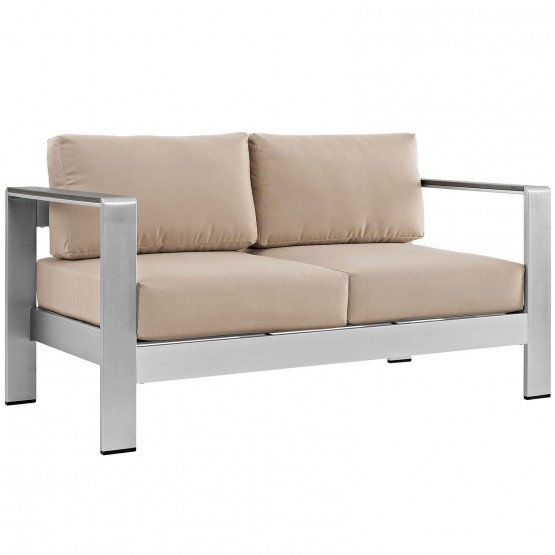 Shore Outdoor Patio Aluminum Loveseat photo