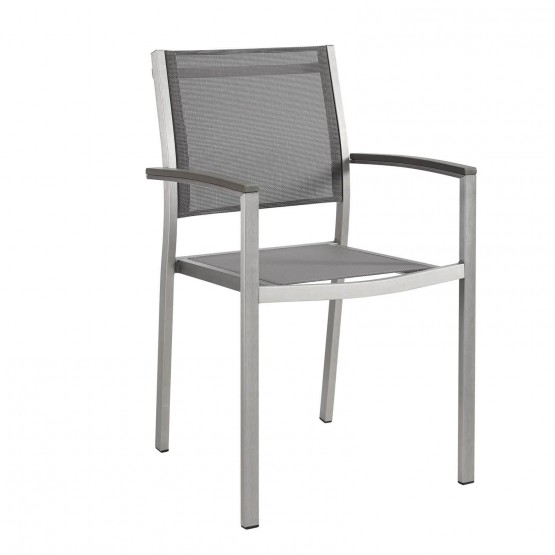 Shore Outdoor Patio Aluminum Dining Chair photo