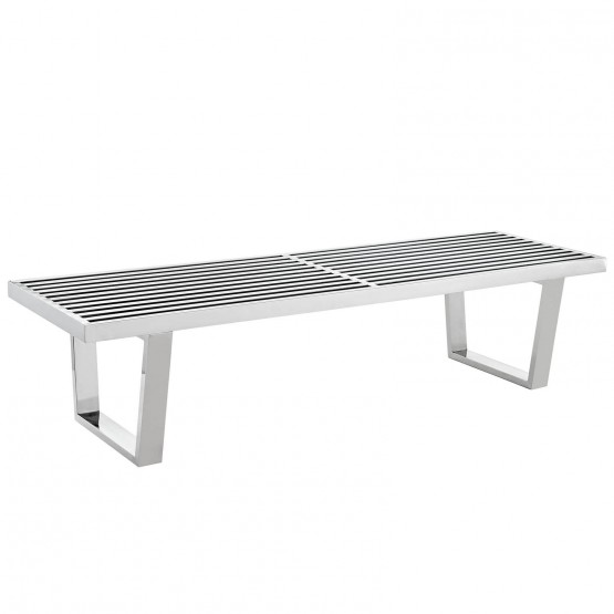 Sauna 5' Stainless Steel Bench photo
