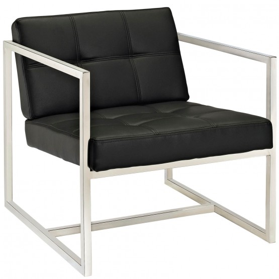 Hover Lounge Chair, Black photo