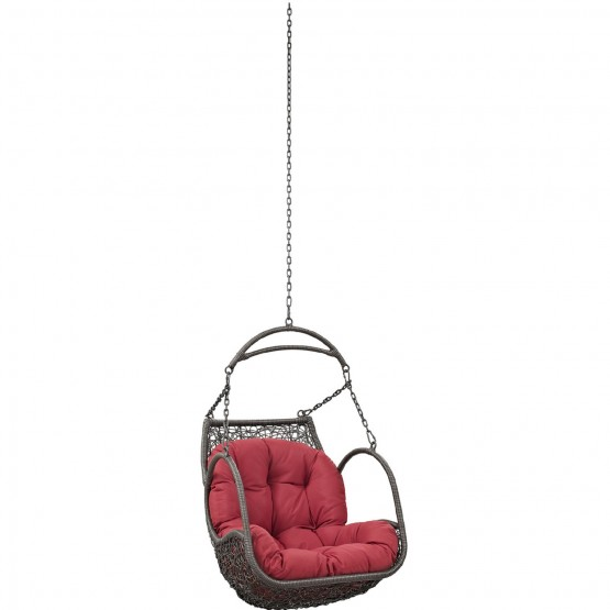 Arbor Outdoor Patio Synthetic Rattan Weave Swing Chair Without Stand photo