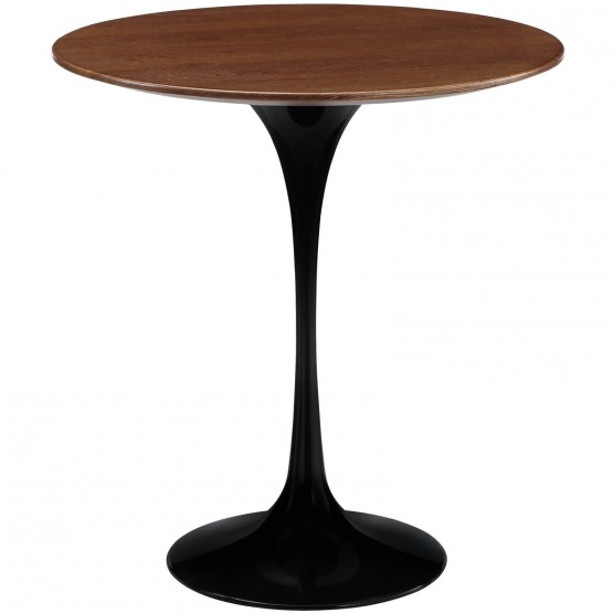 Lippa Wood Side Table, Black photo