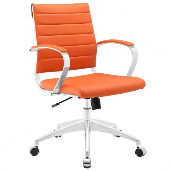 Jive Mid Back Office Chair, Orange photo