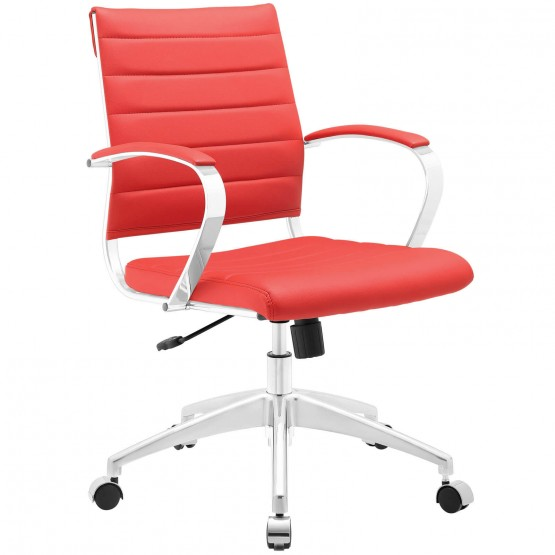 Jive Mid Back Office Chair, Red photo