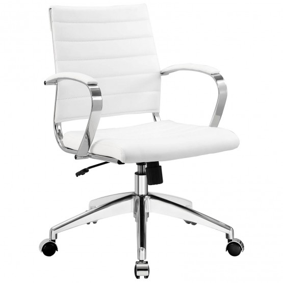 Jive Mid Back Office Chair, White photo