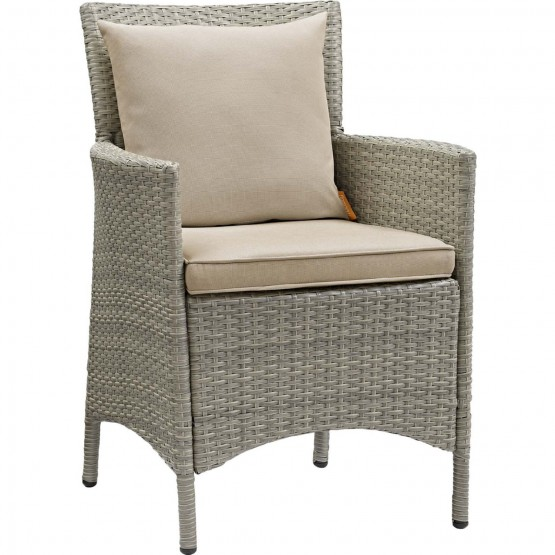 Conduit Outdoor Patio Wicker Rattan Dining Armchair photo