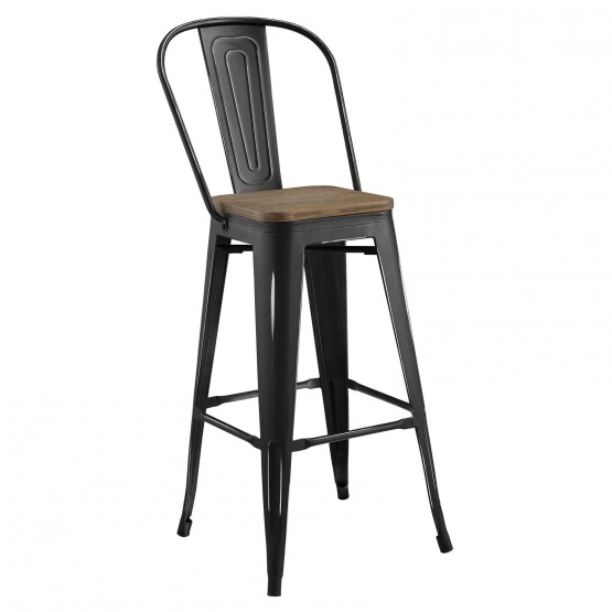Promenade Bamboo/Metal Bar Stool photo