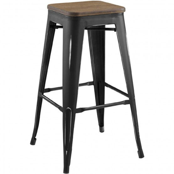 Promenade Metal/Bamboo Bar Stool photo