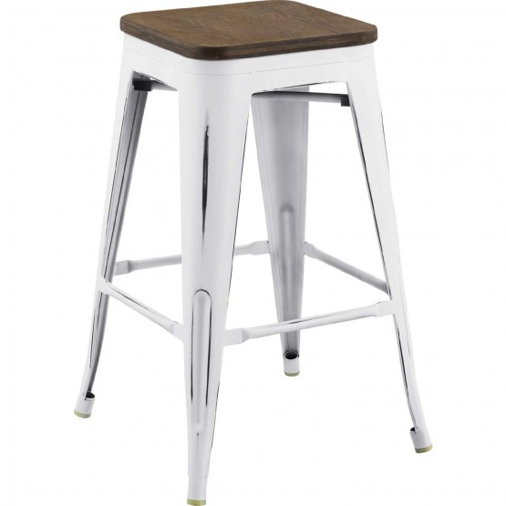 Promenade Metal/Bamboo Counter Stool photo