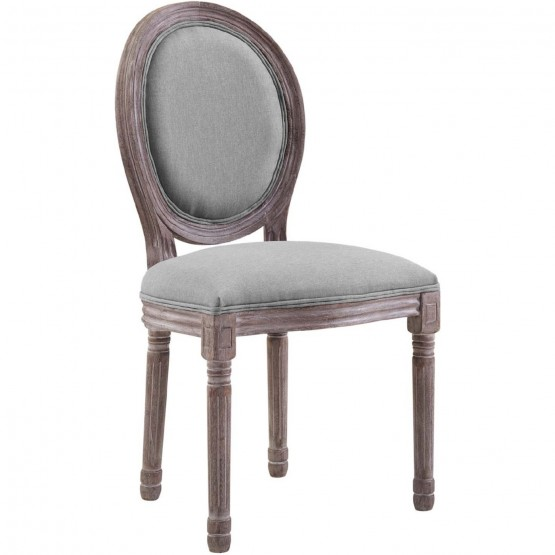 Emanate Vintage French Upholstered Fabric Dining Side Chair photo
