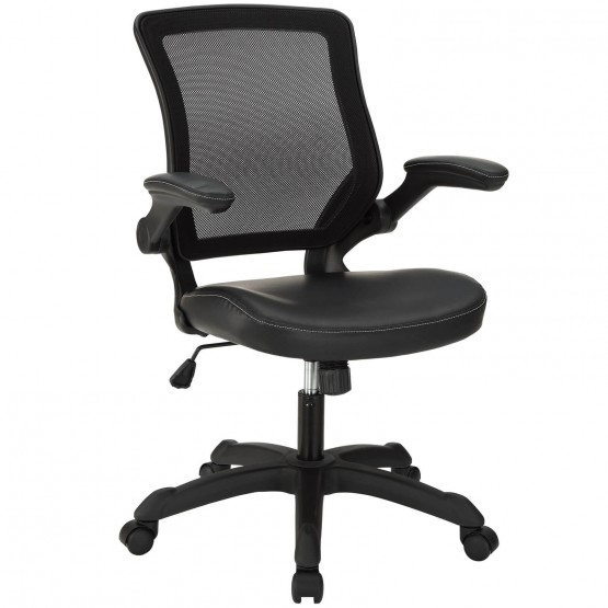 Veer Vinyl Office Chair, Black photo