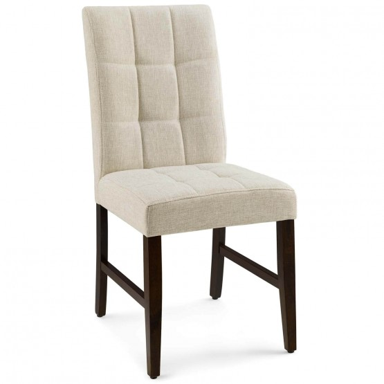 Promulgate Biscuit Tufted Upholstered Fabric Dining Side Chair (Set of 2) photo