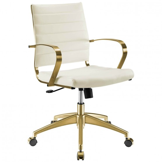 Jive Faux Leather/Stainless Steel Office Chair photo