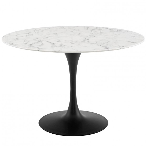 Lippa Round Artificial Marble Dining Table photo