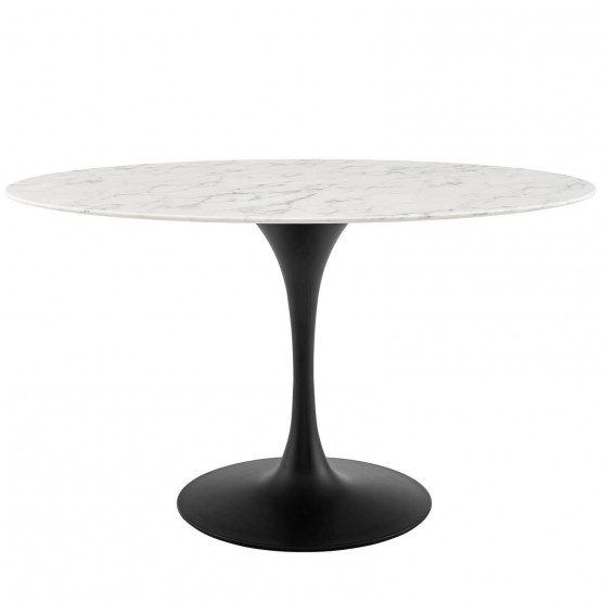 Lippa Oval Artificial Marble Dining Table photo