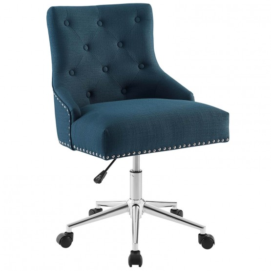 Regent Tufted Button Swivel Fabric Office Chair photo