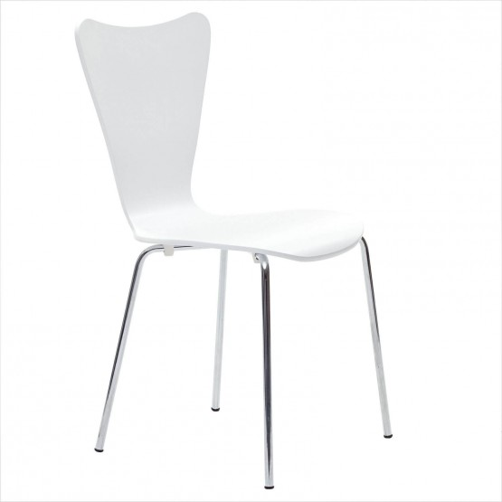 Ernie Dining Side Chair, White photo