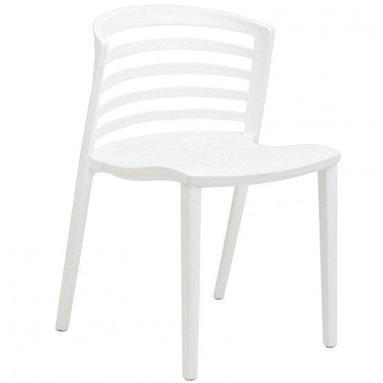 Curvy Dining Side Chair, White photo