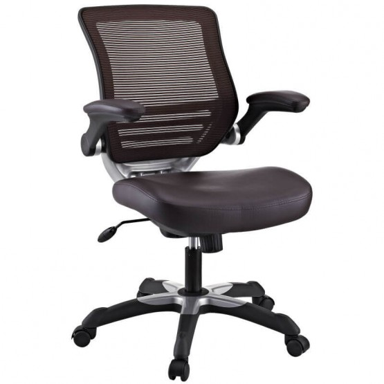 Edge Vinyl Office Chair, Brown photo