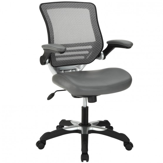 Edge Vinyl Office Chair, Gray photo
