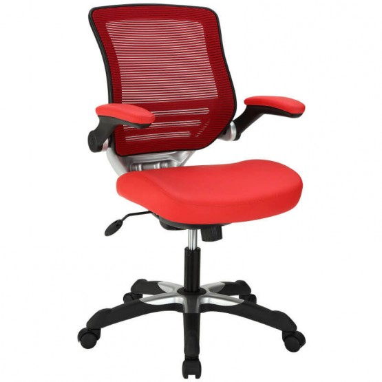 Edge Vinyl Office Chair, Red photo