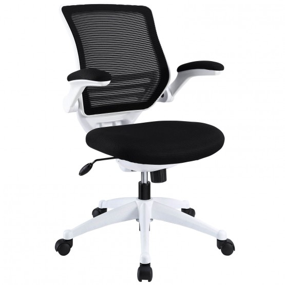 Edge White Base Office Chair, Black photo