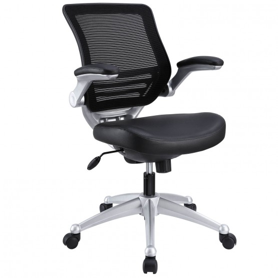 Edge Leather Office Chair, Black photo