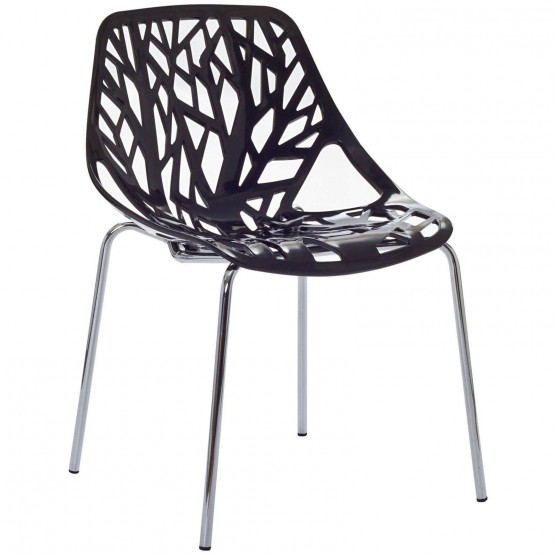 Stencil Dining Side Chair, Black photo