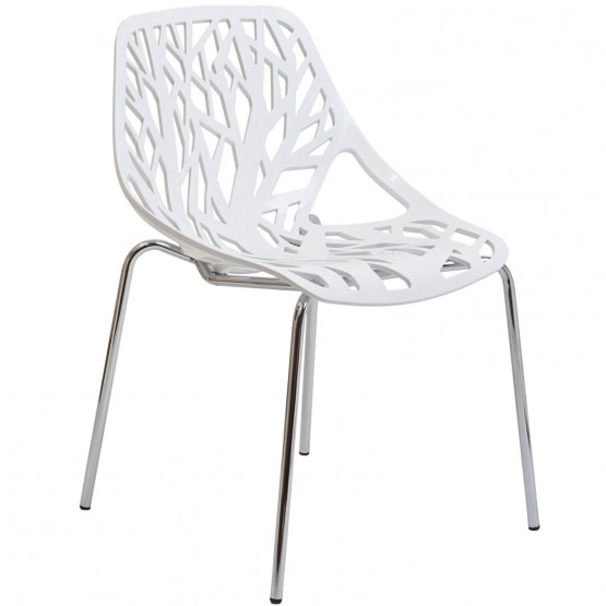 Stencil Dining Side Chair, White photo