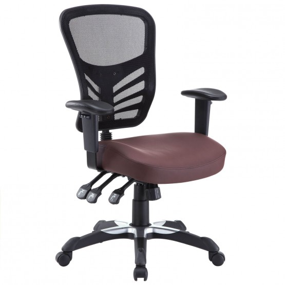 Articulate Vinyl Office Chair, Black photo