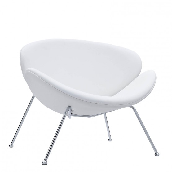 Nutshell Lounge Chair, White photo